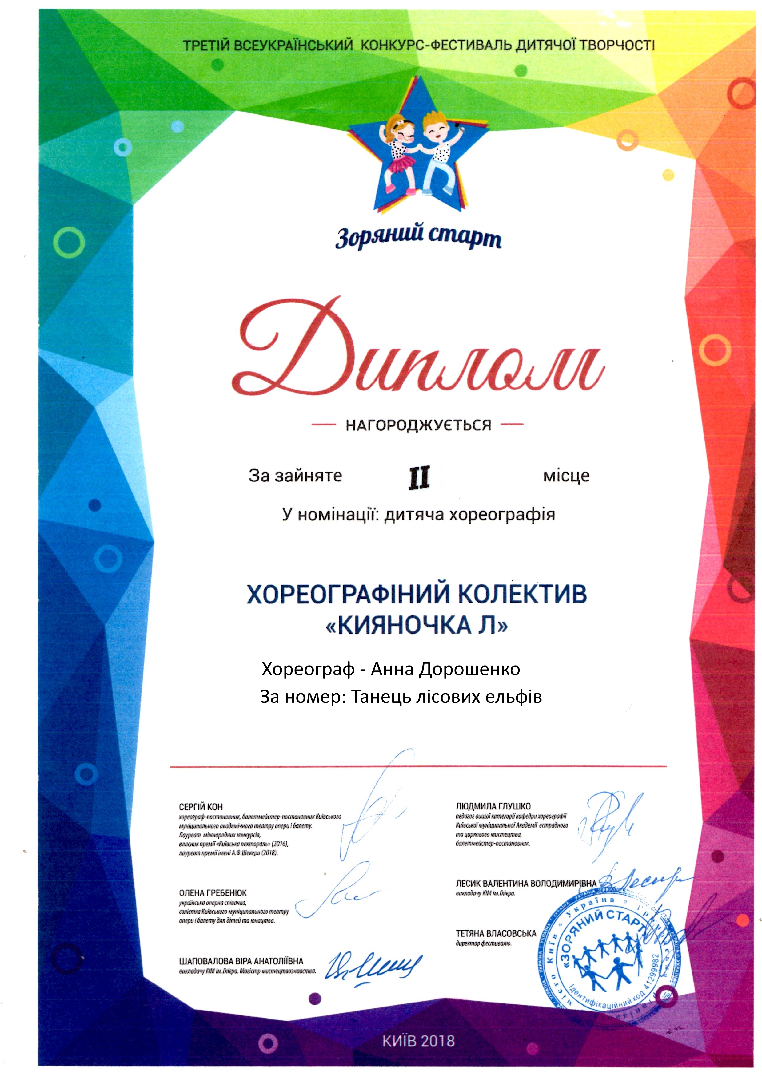 Третій всеукраїнський конкурс-фестиваль дитячої творчості, Лісові ельфи